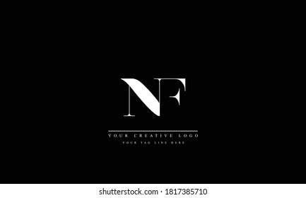 NF FN abstract vector logo monogram template