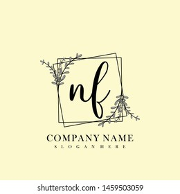 NF Initial beauty floral logo template