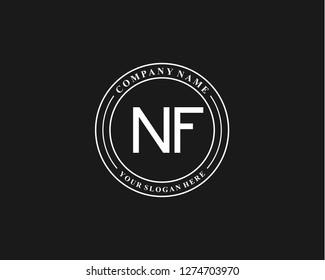 NF Initial letter geometric logo vector