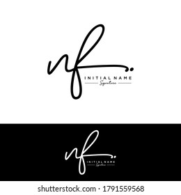 NF Initial letter handwriting and signature logo.