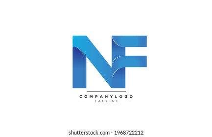 NF initials monogram letter text alphabet logo design