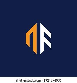 NF Letter Logo Design Template