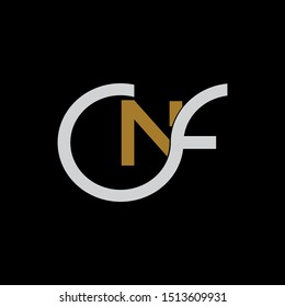 NF Letter monogram with abstrac concept style design