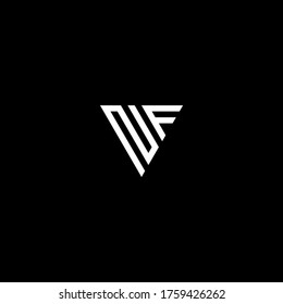 nf letter vector logo abstract