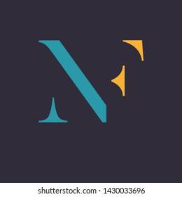 NF logo design. Momnogram logo. Company logo.