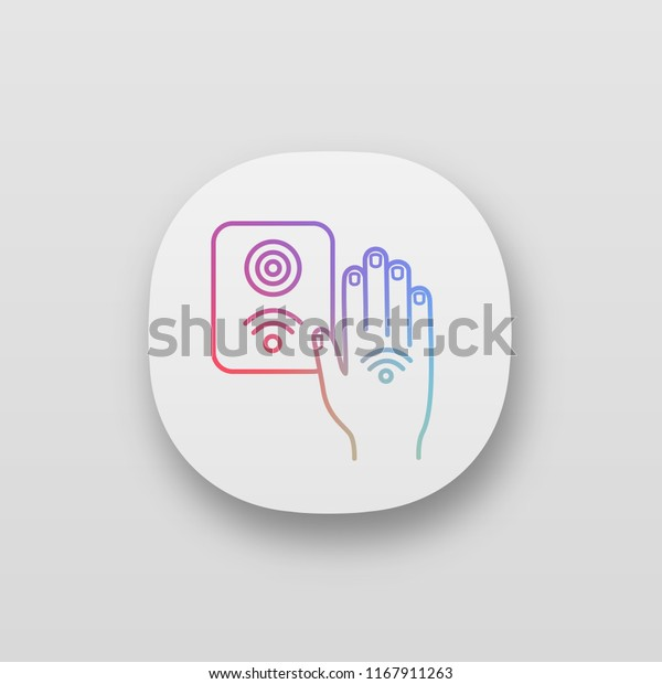 Nfc Reader App Icon Rfid Access Stock Vector (Royalty Free