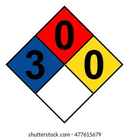 NFPA 704 diamond 3-0-0 sign, vector illustration