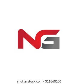 NG company group linked letter logo