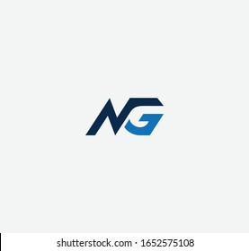 NG or GN letter designs for logo and icons