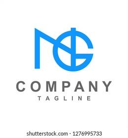 NG, GN, NGI initials company logo