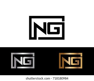 NG initial box shape Logo designs template