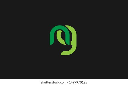 NG Letter Logo Design with Creative Modern Trendy Typography