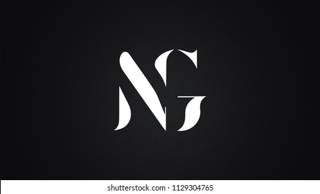 NG Letter Logo Design Template Vector