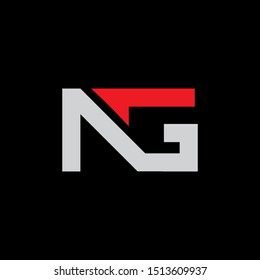 NG Letter monogram with abstrac concept style design