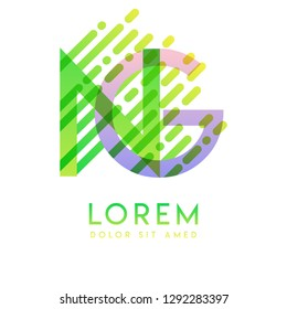 NG logo with the theme of galaxy speed and style that is suitable for creative and business industries. GN Letter Logo design for all webpage media and mobile, simple, modern and colorful