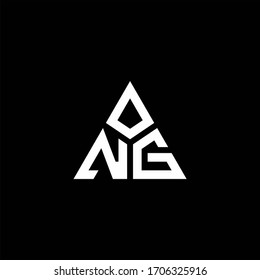 NG monogram logo with 3 pieces shape isolated on triangle design template