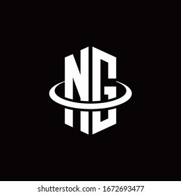NG monogram logo in a hexagon style and surrounded by a ring