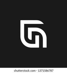 NG or N G letter alphabet logo design in vector format.