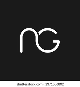 NG or N G letter alphabet logo design in vector format.