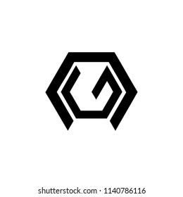 NG, NE, GN, EN geometric initials company logo