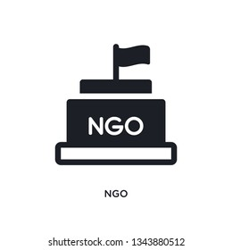 ngo isolated icon. simple element illustration from political concept icons. ngo editable logo sign symbol design on white background. can be use for web and mobile
