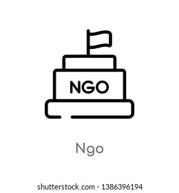 ngo vector line icon. Simple element illustration. ngo outline icon from political concept. Can be used for web and mobile