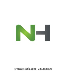 NH company linked letter logo green
