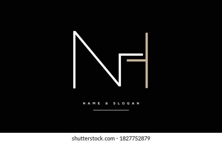 NH ,HN ,N ,H  Abstract Letters Logo Monogram