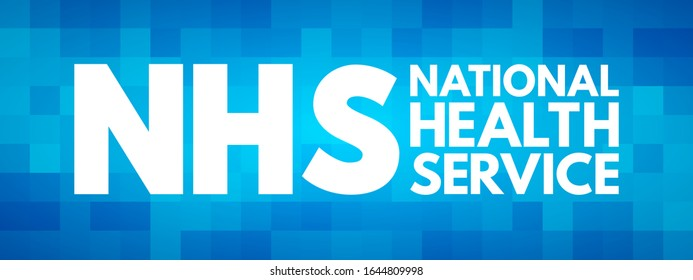 NHS - National Health Service acronym, medical concept background