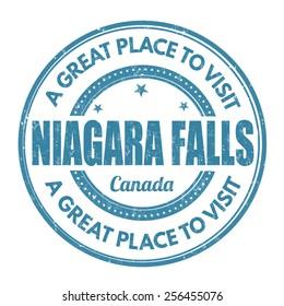 Niagara Falls grunge rubber stamp on white background, vector illustration