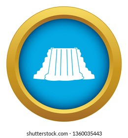 Niagara Falls icon blue vector isolated on white background for any design