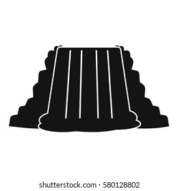 Niagara Falls icon. Simple illustration of Niagara Falls vector icon for web