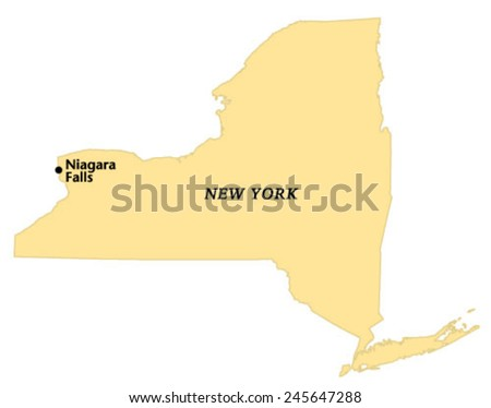 Niagara Falls New York Locate Map Stock Vector Royalty Free