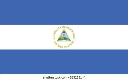 nicaragua flag vector format page symbol for your web site design nicaragua flag logo