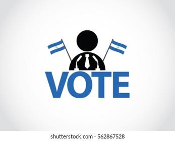 Nicaragua Podium Vote Politician