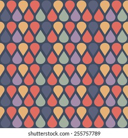 Nice abstract pattern with simple shapes. Seamless kiddie ornament. Colorful background.
