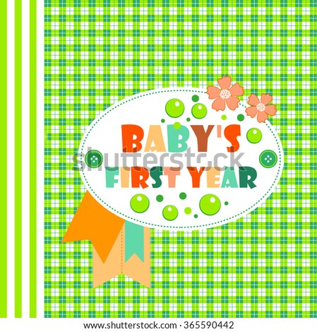 Nice Babys First Year Album Cover Stock Vector Royalty Free