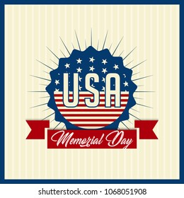 nice and beautiful abstarct or poster for Memorial Day with nice and creative design illustration in a background, Memorial Day of USA.