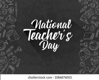 nice and beautiful abstarct or poster for national Teacher's Day with nice and creative design illustration.
