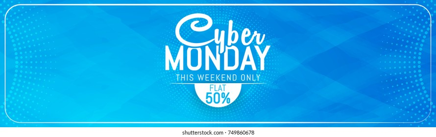 nice and beautiful abstract for Cyber Monday with nice and creative design illustration.