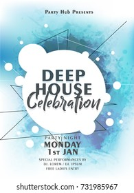 nice and beautiful abstract or Deep House Celebration Party Flyers with nice and creative design illustration.