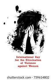 nice and beautiful abstract for Elimination of Violence Against Women with nice and creative design illustration.