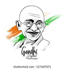 nice and beautiful abstract for Gandhi Jayanti with nice and creative design illustration in background.