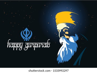 nice and beautiful abstract for Gurunanak Jayanti creative design illustration.