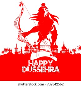 nice and beautiful abstract for Happy Dussehra with nice and creative illustration of Lord Ram in a background.