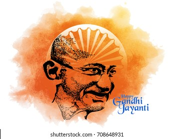 nice and beautiful abstract for Happy Gandhi Jayanti with nice and creative design illustration in background, 2nd October
