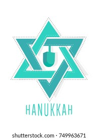 nice and beautiful abstract for Happy Hanukkah with nice and creative design illustration in background.