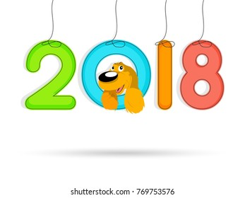 nice and beautiful abstract for Happy New Year 2018 with nice and creative design illustration.