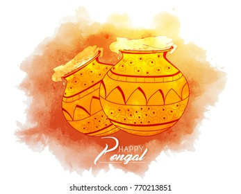 nice and beautiful abstract for Happy Pongal with nice and creative design illustration.