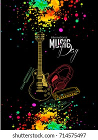 nice and beautiful abstract for International Music Day with nice and creative design illustration.